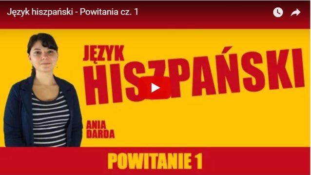 nauka hiszpańskiego na youtube