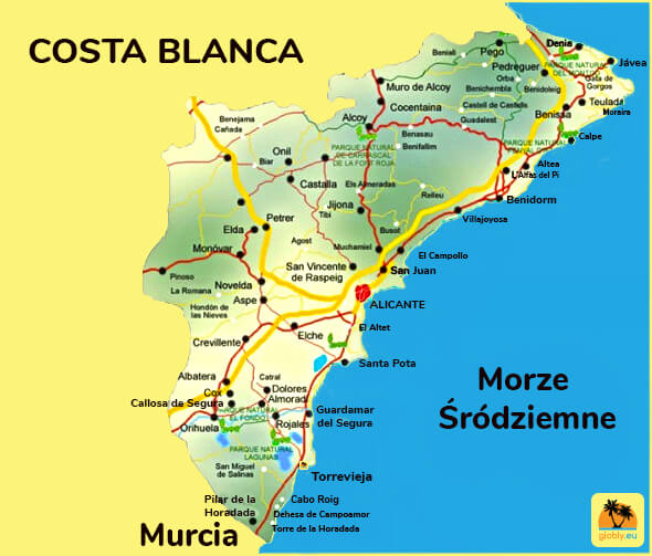 Mapa Costa Blanca